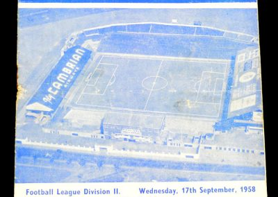 Bristol Rovers v Cardiff City 17.09.1958