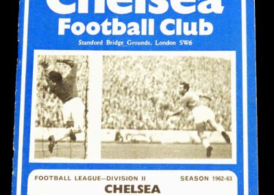 Chelsea v Middlesbrough 20.10.1962
