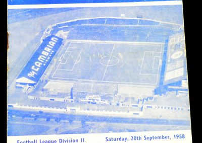Grimsby Town v Cardiff City 20.09.1958