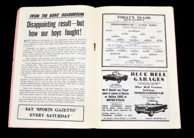 Middlesbrough v Luton Town 27.10.1962