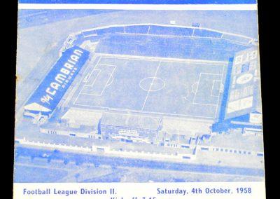 Middlesbrough v Cardiff City 04.10.1958