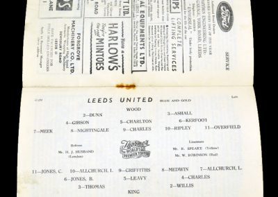 Swansea Town v Leeds United 11.02.1956