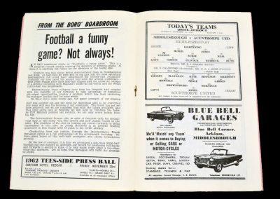 Middlesbrough v Scunthorpe United 10.11.1962