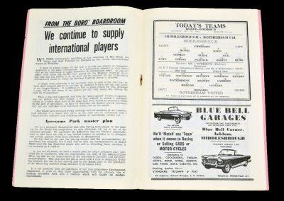 Middlesbrough v Rotherham United 24.11.1962
