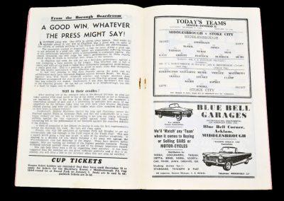 Middlesbrough v Stoke City 08.12.1962