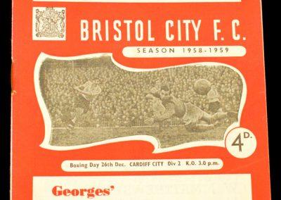 Bristol City v Cardiff City 26.12.1958