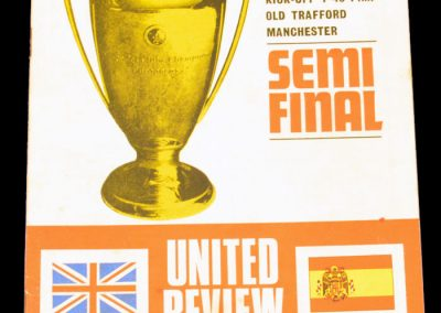 Read Madrid v Manchester United 24.04.1968 | Euro Champions Cup Semi Final 1