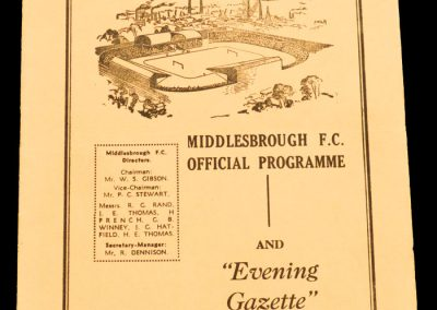 Middlesbrough v Cardiff City 21.02.1959