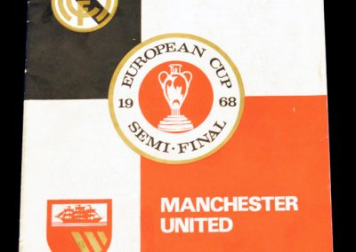 Real Madrid v Manchester United 15.05.1968 | Euro Champions Cup Semi Final 2