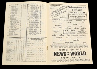 Barnsley v Sheffield United 20.09.1958