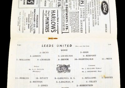 Leeds United v Plymouth Argyle 24.03.1956