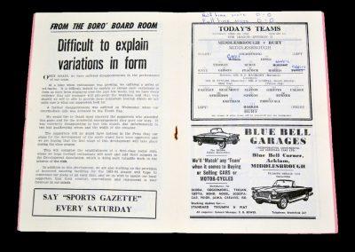 Middlesbrough v Bury 06.04.1963