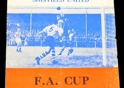 Worcester City v Sheffield United 24.01.1959