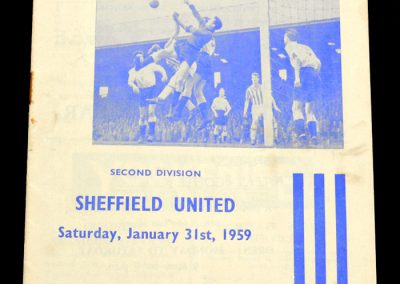 Hudderfield Town v Sheffield United 31.01.1959