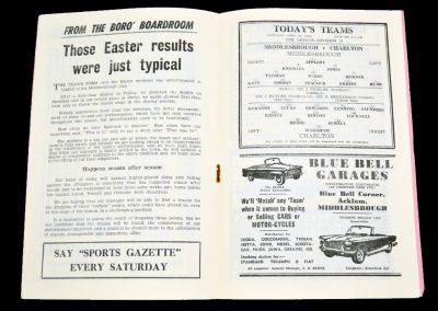 Middlesbrough v Charlton Athletic 20.04.1963