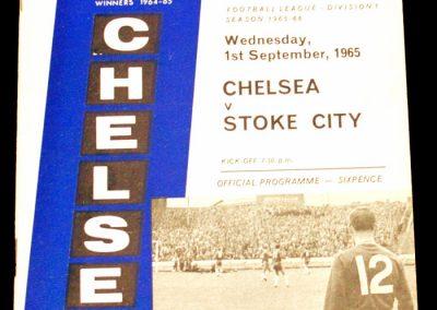 Chelsea v Stoke City 01.09.1965