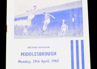 Huddersfield Town v Middlesbrough 29.04.1963