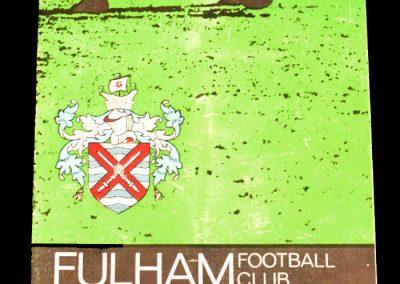 Fulham FC v Tottenham Hotspur 04.09.1965