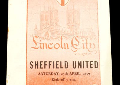 Lincoln City v Sheffield United 25.04.1959