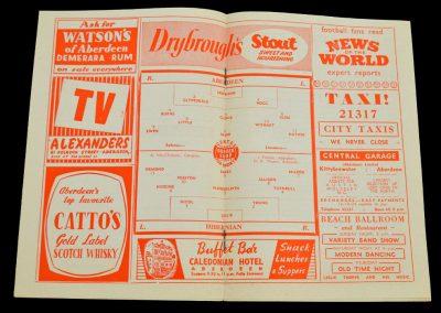 Aberdeen v Hibernian 18.10.1958