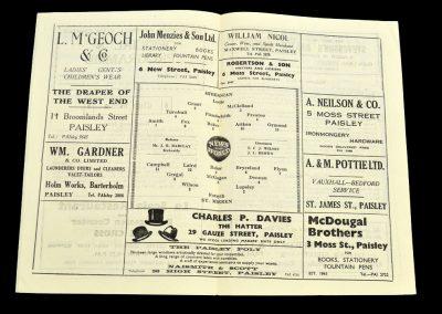 St. Mirren v Hibernian 22.11.1958
