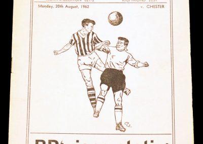 Darlington FC v Chester 20.08.1962