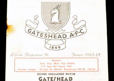 Gateshead v Stranraer 07.09.1962