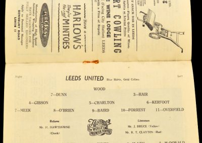 Leicester City v Leeds United 31.08.1957