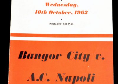 Bangor v Napoli 10.10.1962 | Euro Cup Winners Cup 1st Round Replay