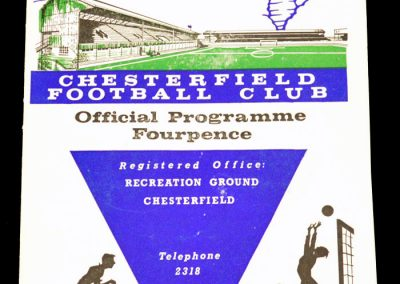Chesterfield v Hartlepools 13.10.1962