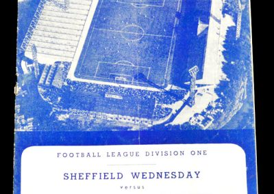 Sheffield Wednesday v Nottingham Forest 13.10.1962