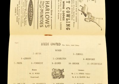 Nottingham Forest v Leeds United 14.09.1957