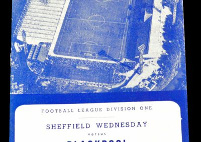 Sheffield Wednesday v Blackpool 27.10.1962