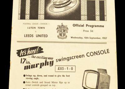 Luton Town FC v Leeds United 18.09.1957