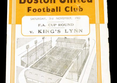 Boston United v Kings Lynn 03.11.1962 | FA Cup
