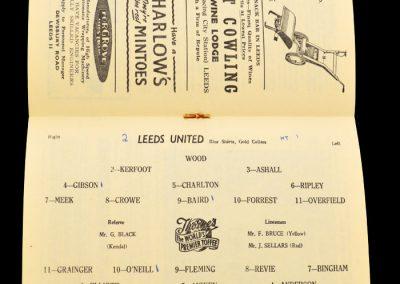 Sunderland v Leeds United 25.09.1957