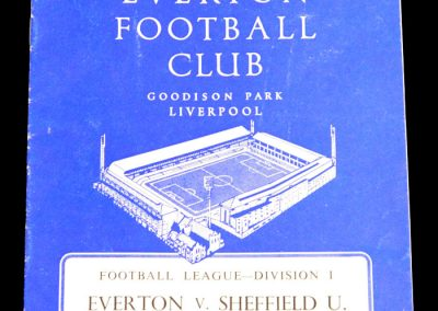 Everton v Sheffield United 24.11.1962