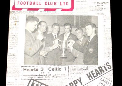 Heart of Midlothian FC v Raith Rovers 28.04.1956
