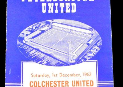 Peterborough United v Colchester United 01.12.1962