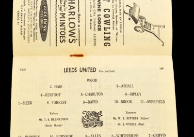 West Bromwich Albion v Leeds United 19.10.1957