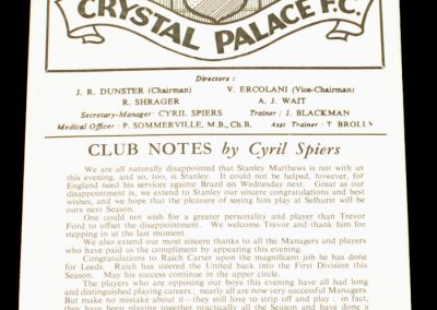 International Managers XI 05.05.1956