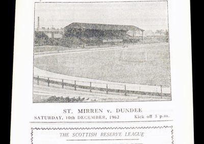 St Mirren v Clyde 10.12.1962