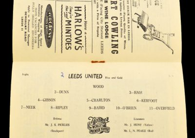 Preston North End v Leeds United 02.11.1957