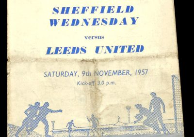 Sheffield Wednesday v Leeds United 09.11.1957