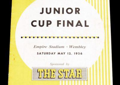 Junior Cup Final 12.05.1956