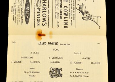 Manchester City v Leeds United 16.11.1957