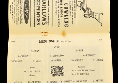 Birmingham City v Leeds United 30.11.1957