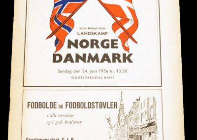 Denmark v Norway 24.06.1956