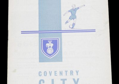 Coventry City v Queens Park Rangers 09.03.1963