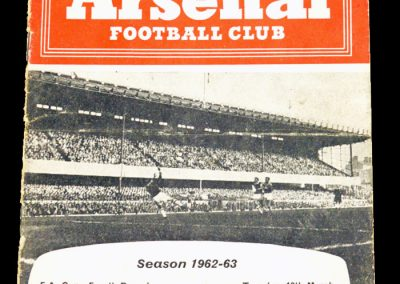 Arsenal v Sheffield Wednesday 12.03.1963
